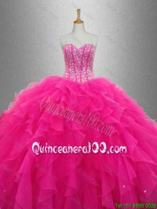 Popular Sweetheart Quinceanera Dresses with Beading and Ruffles for 2016
