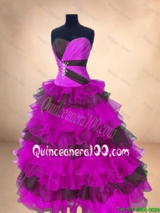 Perfect Ball Gown Floor Length Quinceanera Gowns in Multi Color