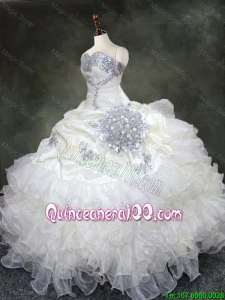 Discount Ruffled Layers Quinceanera Gowns with Beading and Sequins