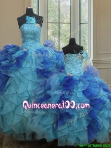 Discount Feather Two Tone Princesita Quinceanera Dresses with Beading and Ruffles