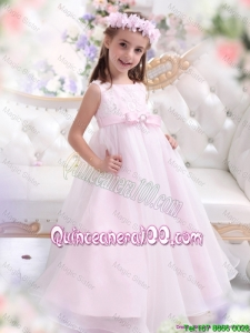 New Arrival Appliques and Bownot Mini Quinceanera Dresses in Baby Pink