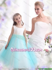 Popular White and Baby Blue Mini Quinceanera Dresses for 2016