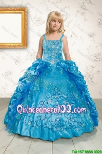 Luxurious Ruffles and Pick Ups Mini Quinceanera Dresses in Blue