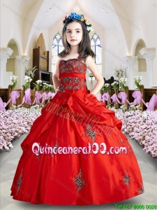 Luxurious Wine Red Mini Quinceanera Dresses with Appliques and Pick Ups