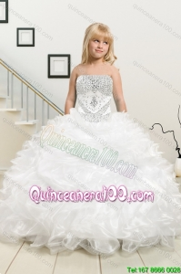 Most Popular Beading and Ruffles White Mini Quinceanera Dresses