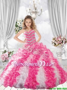Popular Sweetheart Multi Color Mini Quinceanera Dresses with Beading and Ruffles