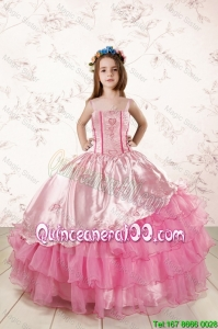 Unique Appliques and Ruffled Layers Mini Quinceanera Dresses in Baby Pink