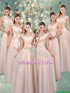 Pretty Luxurious Champagne Dama Dresses with Lace and Bowknot