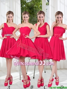 Pretty Romantic A Line Bowknot Dama Dresses in Chiffon