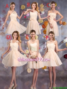 Pretty Delicate Champagne Dama Dresses with Hand Made Flowers