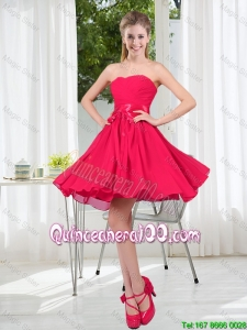 Great Custom Made A Line Sweetheart Dama Dress in Chiffon