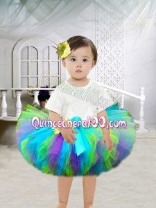 Cool Ball Gown Scoop Knee-length Little Girl Dresses with Ruffles
