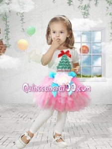Tulle Scoop A-Line Mini-length Little Girl Dresses with Bowknot