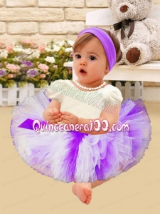 Beautiful Ball Gown Scoop Mini-length Little Girl Dresses with Short Sleeves