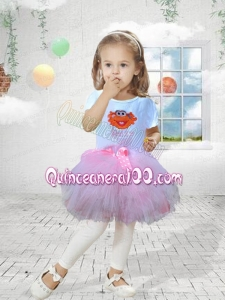 2014 Beautiful Scoop A-Line Little Girl Dress with Mini-length