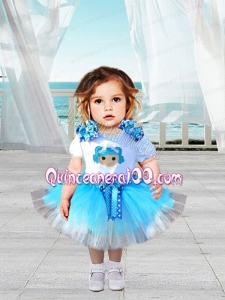 2014 Elegant Scoop A-Line Knee-length Little Girl Dress with Bowknot