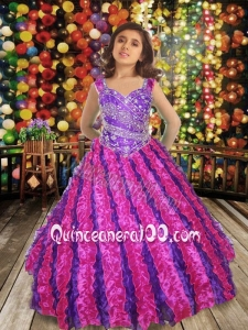 Sweet Ball gown Sweetheart Little Girl Pageant Dresswith Beading