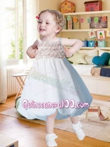 Pretty A-Line Straps Knee-length Ruffles Flower Girl Dress