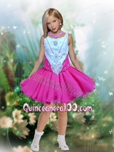 Fashionable A-Line Scoop Beading Little Girl Dress for 2014
