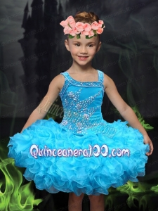 2014 Ball Gown Cute Mini-length Little Girl Dress with Beading