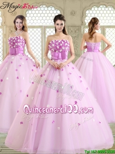 New Arrivals 2016 Straps Quinceanera Dresses with Strapless