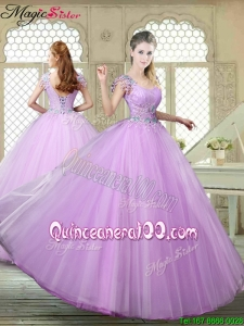 Fall Perfect Ball Gown Scoop Quinceanera Gowns with Appliques