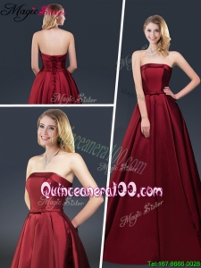 Winter Gorgeous A Line Strapless Mother Dresses with Brush Train