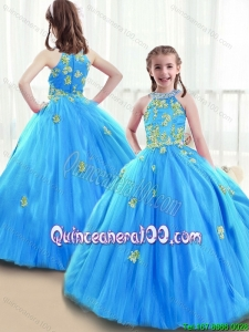 New Arrivals High Neck Mini Pageant Dresses with Beading