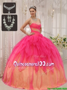 Pretty Ball Gown Strapless Quinceanera Dresses with Beading