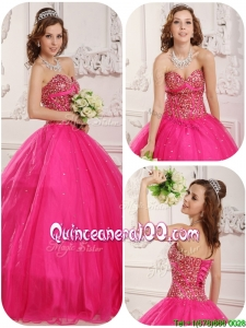 Wonderful A Line Sweetheart Quinceanera Gowns with Beading