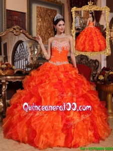 Beautiful Ball Gown Appliques and Beading Quinceanera Dresses