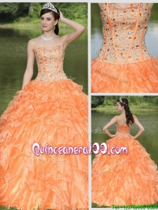 Exquisite Beading and Ruffles Layered Quinceanera Gowns