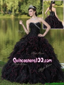 2c3977dd774  2645.05  100.88 -  180.32  Fashionable Ruffles Layered and Beading Quinceanera  Gowns in Black