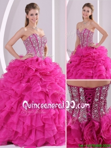 Luxurious Fuchsia Ball Gown Sweetheart Quinceanera Dresses