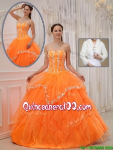 Beautiful Ball Gown Sweet 15 Dresses with Appliques and Beading