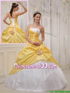 Best Selling Yellow Ball Gown Strapless Quinceanera Dresses