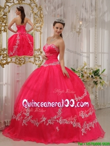 Exquisite Ball Gown Sweetheart Appliques Quinceanera Dresses
