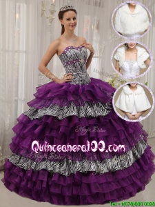 Modest Purple Ball Gown Sweetheart Quinceanera Dresses