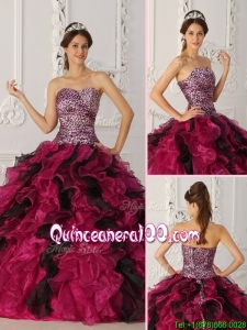 New Arrival Sweetheart Ruffles Quinceanera Dresses in Multi Color