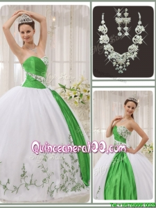 Popular Sweetheart Quinceanera Dresses with Embroidery for 2016