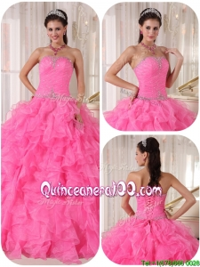 Perfect Ball Gown Strapless Sweet 16 Gowns with Beading