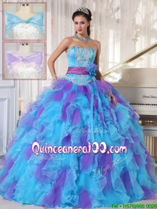 Perfect Strapless Beading and Appliques Quinceanera Gowns