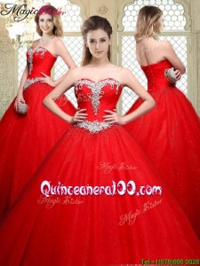 Popular Sweetheart Beading Quinceanera Dresses with Brush Train