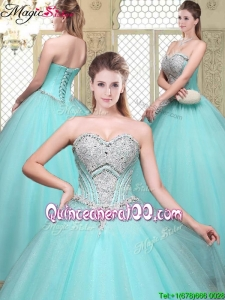 Modest Sweetheart Beading Quinceanera Dresses for Summer
