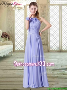 2016 Sweet Empire Halter Top Dama Dresses in Lavender