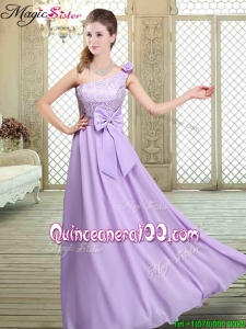 2016 Spring High Neck Lace Lavender Dama Dresses for Quinceanera
