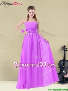 Discount Empire Sweetheart Bridesmaid Dresses with Ruching and Belt