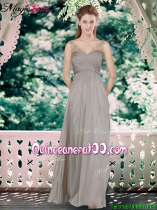 Fall New Style Sweetheart Bridesmaid Dresses with Hand Made Flowers
