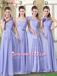 New Style Empire Floor Length Dama Dresses in Lavender