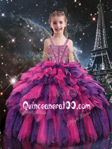 Gorgeous Ball Gown 2016 Little Girl Pageant Dresses with Beading